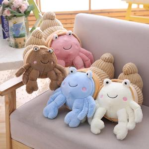 Cartoon Plush Hermit Crab Doll Toy Back Cushion Throw Pilllow Sofa Chair Decor Plush Toy Stuffed Lovely kids Birthyday Gift