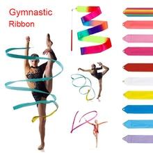 2 метра, 4 метра, красочные ленты для спортзала, ленты для танцев, художественная гимнастика, балетный стример, крученая удочка, тренировочная трость C