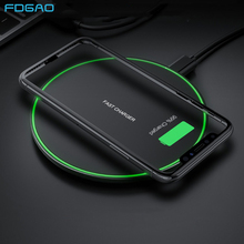 FDGAO 15W Fast Qi Wireless Charger Pad For iPhone X XS Max XR 8 Plus 10W Quick Charge Samsung S10 S9 Note 10 Xiaomi Mi 9