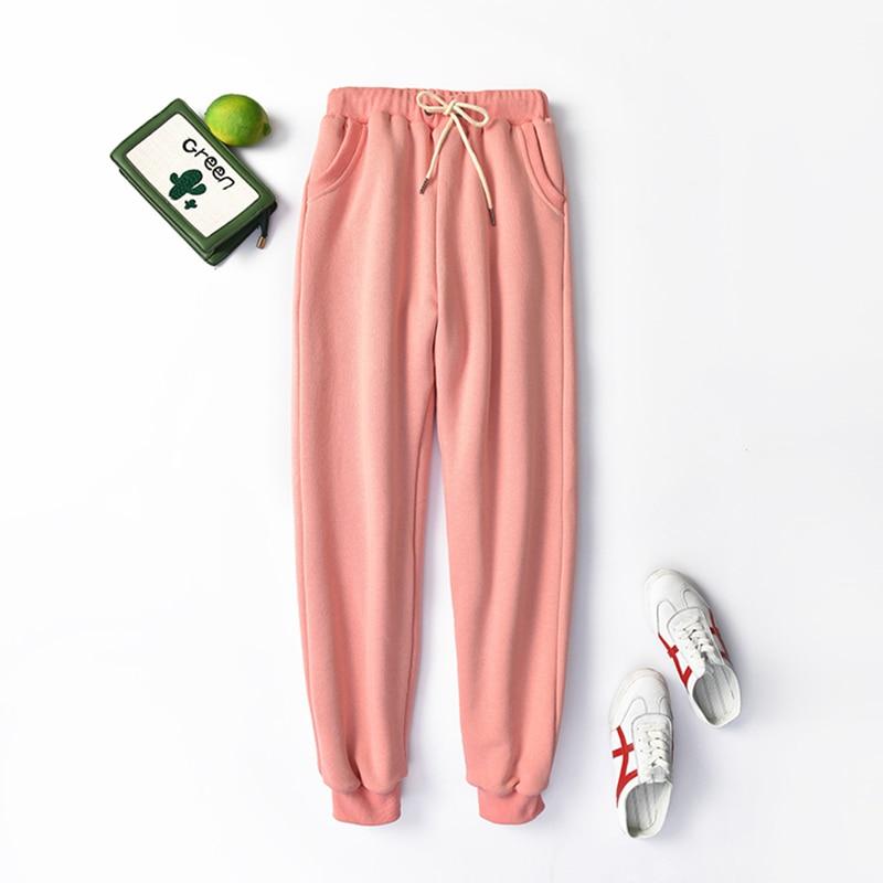 2020 New Women's Pants Plus Velvet Spring Autumn Leisure Loose Harlan Pants Drawstring Elastic Waist Joggers Sweatpants Tide