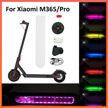 Transparent UV Bottom LED Strip For Xiaomi M365 Electric Scooter Bluetooth Night Safety LED Light Flashlight Night Safety Lamp