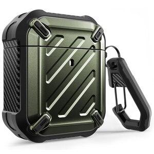 Image 1 - Чехол для SUP чехол UB Pro, чехол для Airpods 1 и 2, полноразмерный прочный защитный чехол, чехол с карабином для Apple Airpods 1st и 2nd