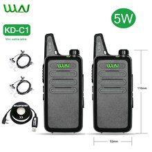 1/2/3/4/5/6 pces mini walkie talkies wln KD-C1 estação de rádio portátil uhf 430-440mhz kdc1 ham rádio transceptor sinal de voz clara