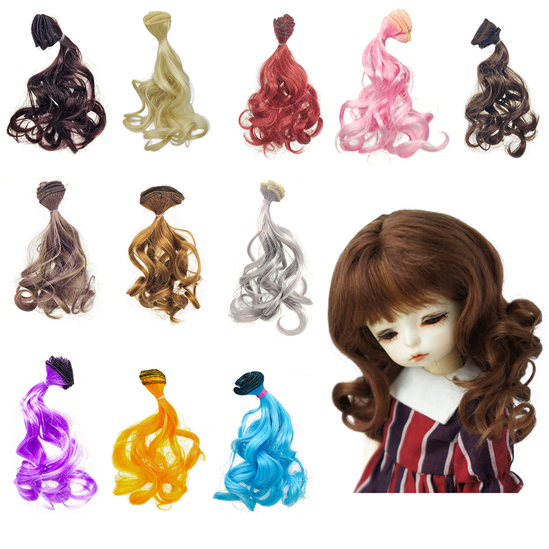 28cm DIY Doll Hair For Wigs BJD SD Heat Resistant 1/3 1/4 1/6 Roman Curly Hair For Russian Handmade Doll Accessories Toys
