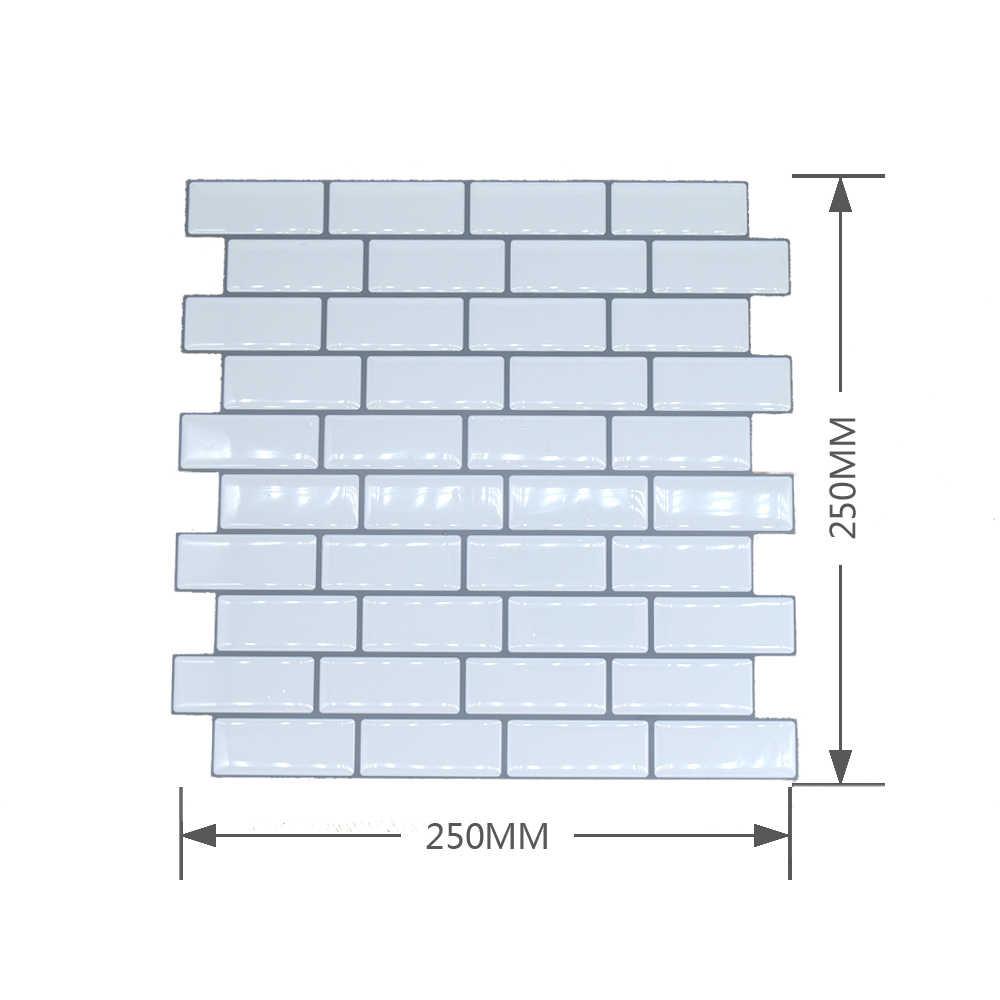 Diseño de serie completa de lujo fácil Diy quitar la decoración de pared 250x250mm cocina baño decoración del hogar pegatina de azulejos de pared para ladrillos de pared 1 pieza