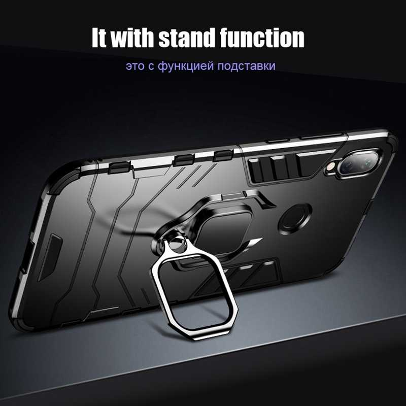 CASEIER Armor Shockproof Case For Xiaomi Redmi Note 7 5 6 Pro 4 4X 3 6A Finger Ring Holder Case For Xiaomi A2 MAX 3 8 9 SE Case