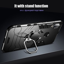CASEIER Armor Shockproof Case Voor Xiaomi Redmi Note 8 Pro 7 5 6 4 4X 6A Vinger Ring Houder Case voor Xiaomi A2 MAX 3 8 9 SE Case