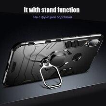 CASEIER Rüstung Stoßfest Fall Für Xiaomi Redmi Hinweis 8 Pro 7 5 6 4 4X 6A Finger Ring Halter Fall für Xiaomi A2 MAX 3 8 9 SE Fall