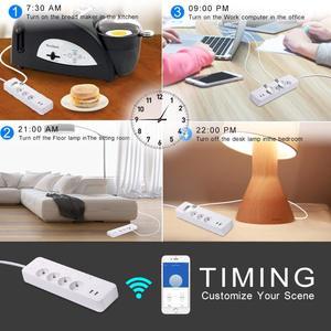 Image 5 - WiFi Smart Power Strip Intelligent EU Plug Electrical USB Sockets Wireless Timer Remote Independent Control by Google Home Alexa