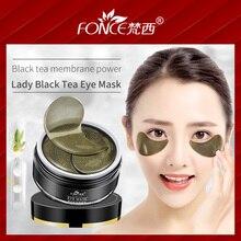 Koreańska pielęgnacja skóry czarna herbata kolagen żel płatki pod oczy maska ekstrakt roślinny świąteczny prezent oczy Remover ciemne koła Anti Age Bag