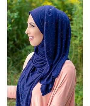 2020 kobiety glitter rozciągliwy szal z dzianiny hidżab muzułmańskie bawełniane chusty turban szal muzułmański szale kobiece wrap szale na głowę tanie i dobre opinie Zwykły hijabs COTTON Dla dorosłych NONE JERSEY women cotton headscarf Moda 55*175cm about 140g spring summer autumn winter