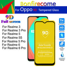 5Pcs\lot 9D Protective Film Full Cover Screen Protector For OPPO Realme 3 5 5S 6 Pro Realme3 Realme5 Realme6 Tempered Glass(China)
