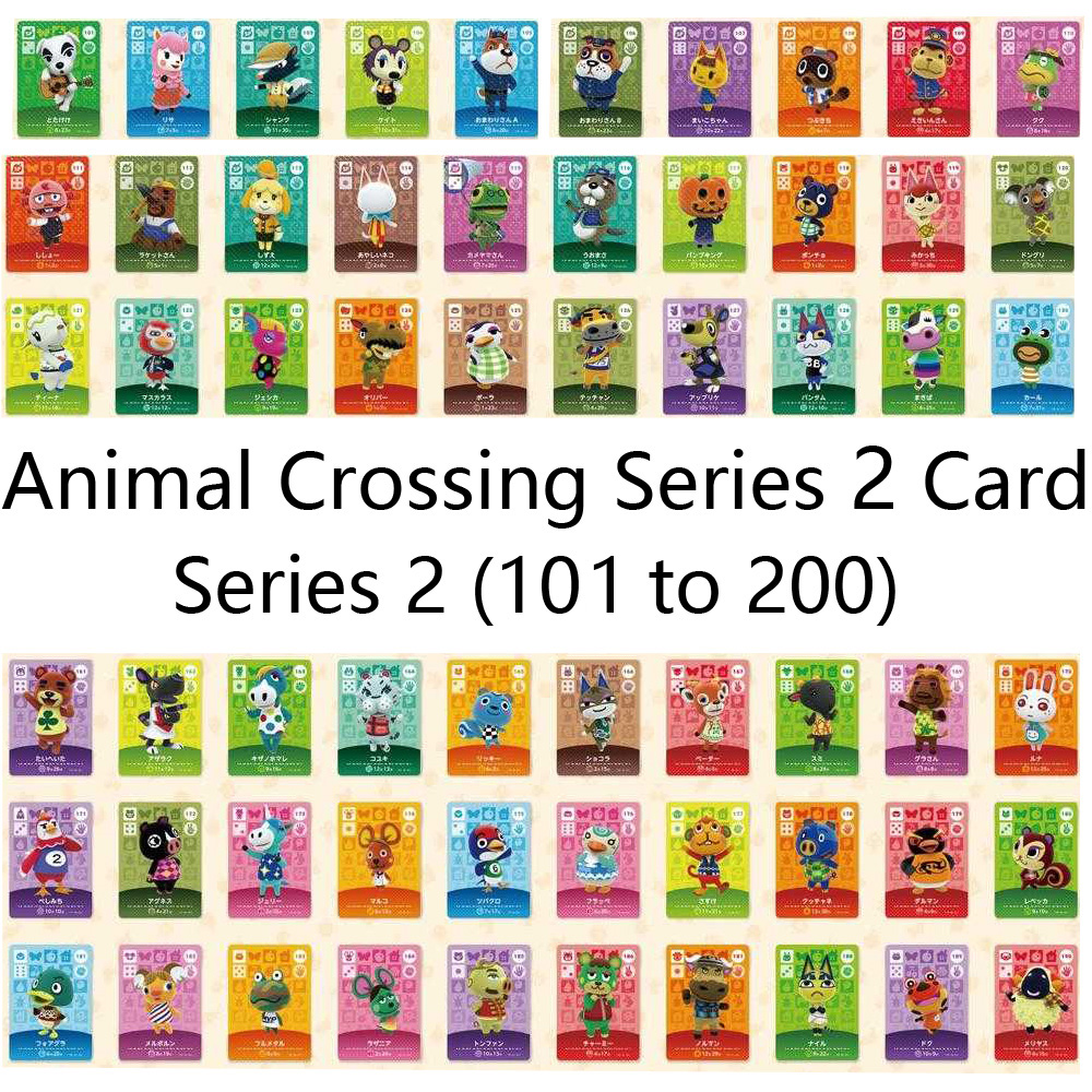 English Version (101 To 200) Animal Crossing Card Amiibo Locks Nfc Card Work For NS Games Series 2