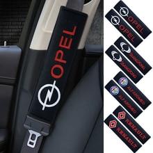 2 Stuks Auto Interieur Katoen Flanel Seat Belt Bescherming Cover Voor Mercedes Benz W212 W213 W205 W177 V177 W247 Gla glc X253 W166