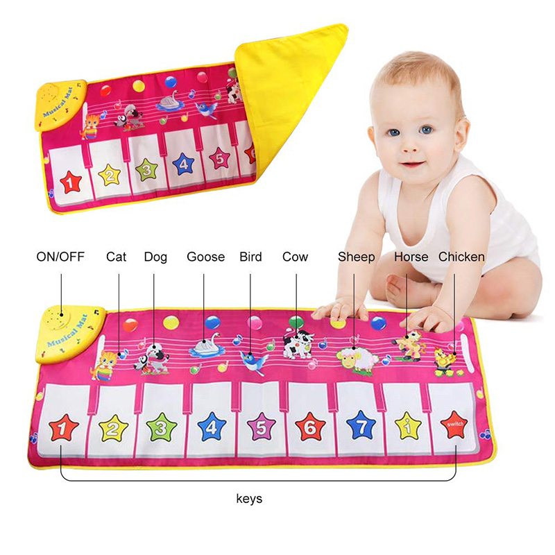 Piano Music Dance Play Mat Funny Musical Blanket Gifts For Kids Baby 2019 Hot Sale Kids Toys Play Mats Xmas Gift Dropship