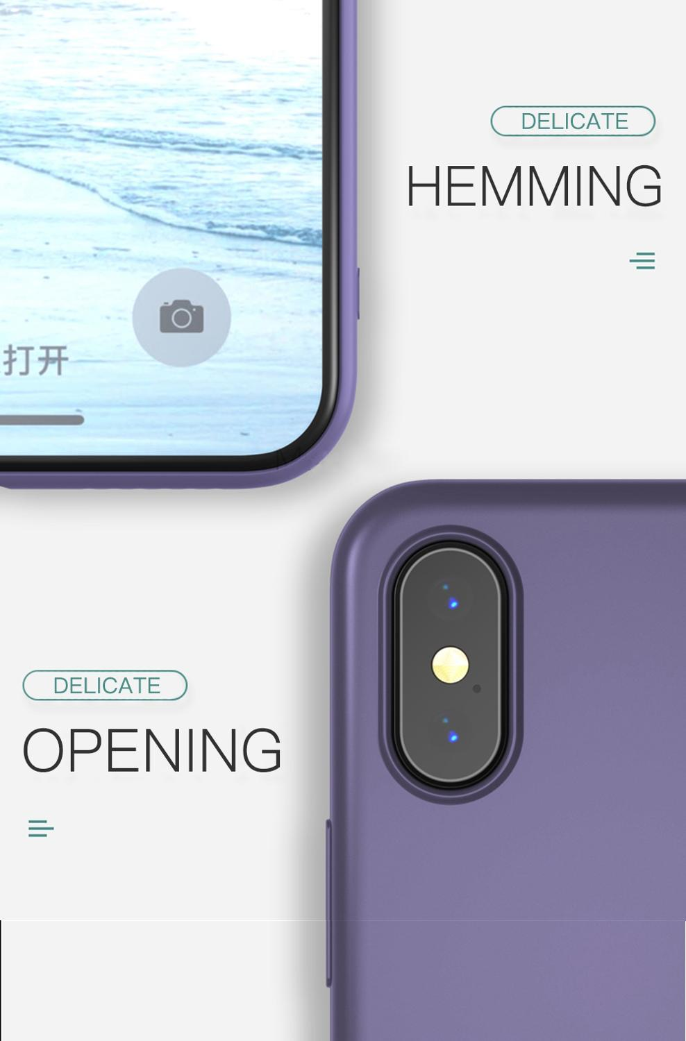 KJOEW Silicone Solid Candy Color Phone Shell for iPhone 11 Pro Max XR X 3