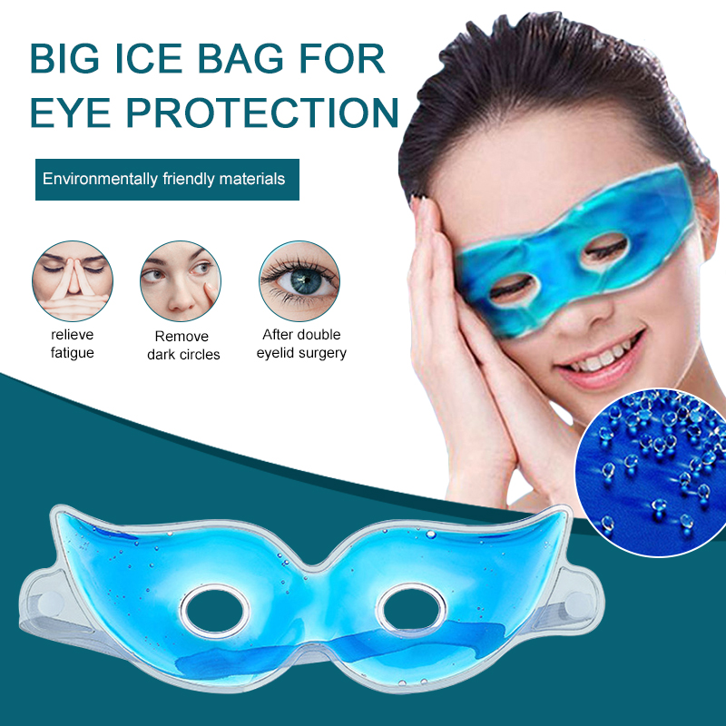 Cold Eye Mask Ice Gel Warm Hot Ice Cooling Relieve Eye Fatigue Relief Dark Circles Relaxing Sleeping Eye Gel Patches Mask TSLM1