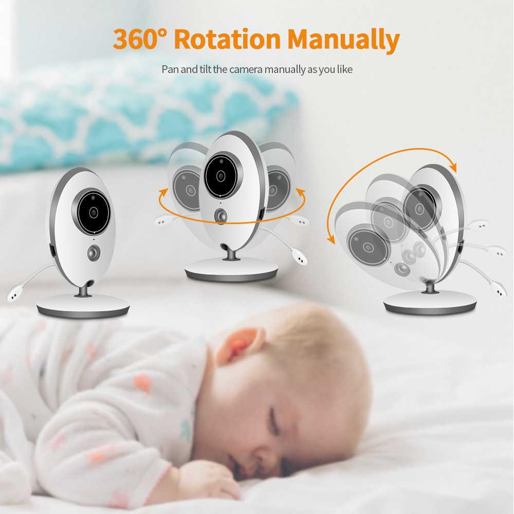 لاسلكي lcd الصوت فيديو مراقبة الطفل VB605 راديو مربية الموسيقى إنترفون ir 24 h المحمولة الطفل كاميرا الطفل اسلكية تخاطب جليسة