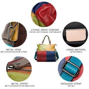 Image 5 - WESTAL ハンドバッグ女性の本革大バッグ女性のメッセンジャー/ショルダーバッグパッチワークハンドバッグ革トートバッグ 9135