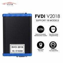 Programador de teclas SVCI 2018 FVDI 2018 OBD2, todas las funciones de VVDI2 V2015 V2014, corrección de odómetro ilimitada, clave/programador ECU