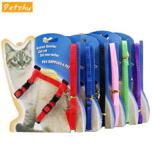Breathable Adjustable Pet Cat Leash Harness Collar Small Dog Puppy Chest Vest Traction Rope Outdoor Walking Cat Leash Belt Rope