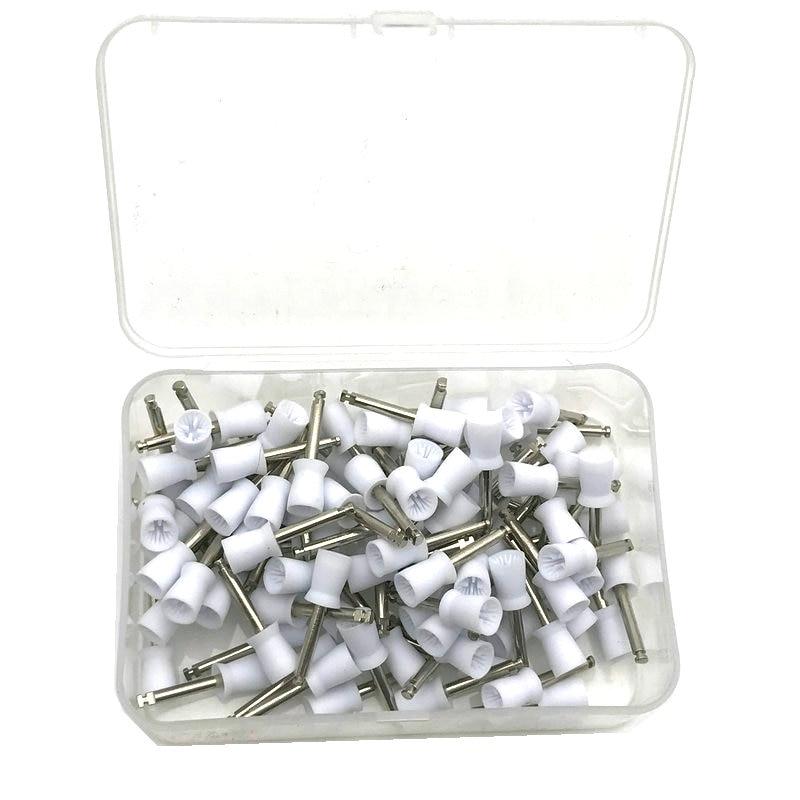 100 pces copo de polimento dental dente polones polimento escova polidor prochy borracha copo dentista ferramenta