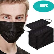 Evitar máscara facial à prova proteger rosto boca capa máscaras ao ar livre filtros você está muito perto maks 60 pçs máscaras pretas gaxetas mascaras