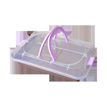 Food transparent fermented rectangular carbon steel pan with plastic lid, cake bread baking pan, outer pan for oven