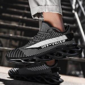 Image 5 - 新しい軽量男性の靴男性カジュアルシューズレースアップスニーカー夏通気性の男性フラットシューズ、男性靴chaussureオム