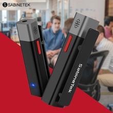 SABINETEK SmartMike Senza Fili Bluetooth Microfono Reale tempo di Radio di Riduzione Del Rumore Breve Video Vlog Dispositivo di Registrazione Per Vlogger