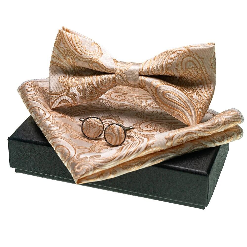 STTLZMC Mens 3pc Classic Paisley Floral Jacquard Waistcoat/&Necktie and Pocket Square Vest Set for Suit or Tuxedo