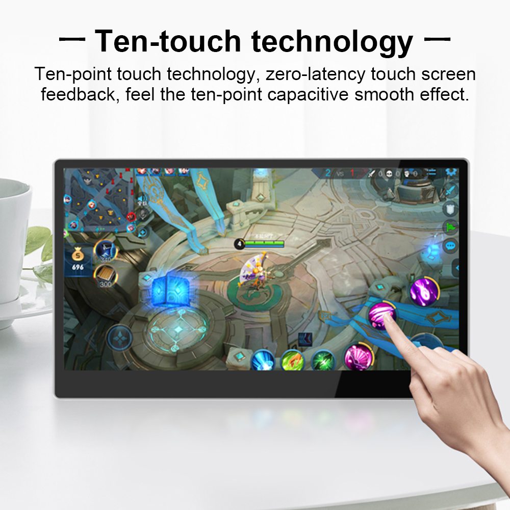 Image 4 - New 15.6 inch 9mm Ultra thin 4K HDR Touch Screen Display Portable Type C Phone Monitor HDMI for Switch/XBOX/PS4 Laptop Desktop-in Laptop LCD Screen from Computer & Office