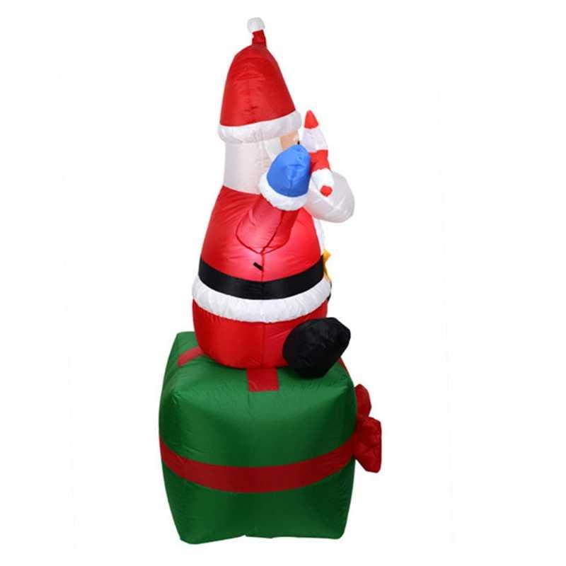 1.8M yüksek otomatik şişme santa baba ışık şişme noel dekorasyon bahçe şişme oyuncaklar açık oyuncaklar ab tak