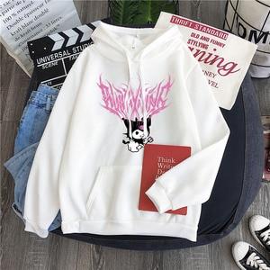 Женские толстовки Harajuku с забавным рисунком, толстовка с капюшоном, Женский Осенний пуловер с длинным рукавом, милая Толстовка для девочек