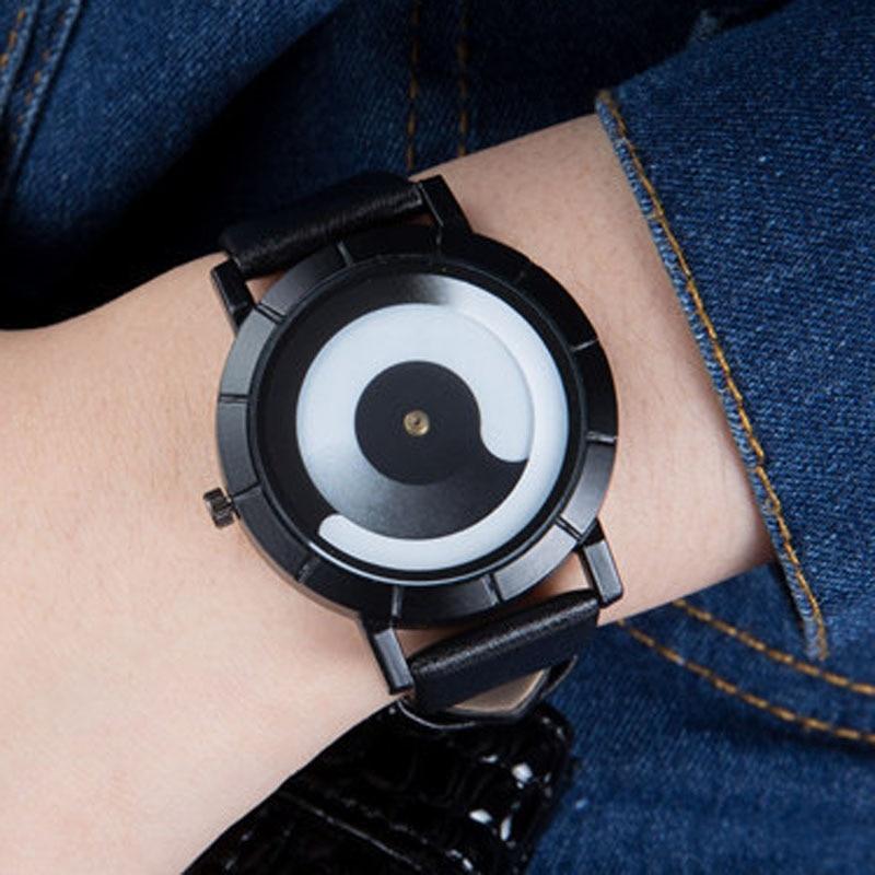 Man Watch 2019 Fashion Creative Rotation Watches Leather Strap Quartz Watches Men Sports Watches Relogio Masculino heren horloge