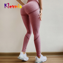 Seamless Tummy Control Yoga Pants Women Fitness High Waist Compression Tights Stretchy Sports Pants Push Up Running Gym Leggings цены