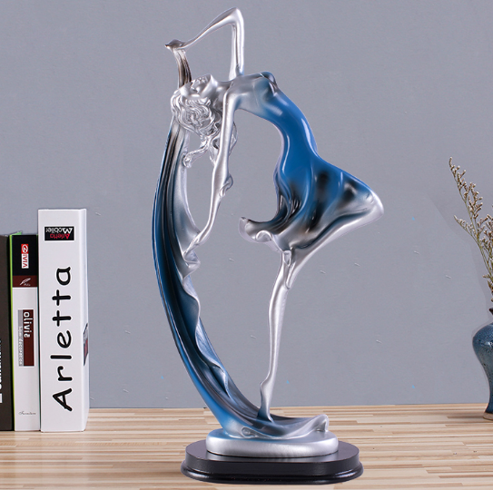 GAOBEI Beautiful Creative Dancing Girl Home Decoration Accessories Statue Sculpture Resin Desktop Crafts Statues For Decoration