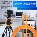 Кабель для камеры PERESAL Type-c на USB3.0, кабель для фотоаппарата 1,5 м, 3 м, 5 м, 8 м для Canon EOS R RP SONY a7m3 R3 A7R4, камера с кабелем для съемки