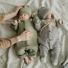 2pcs Knitted Newborn Baby Clothes Cotton Spring Autumn Baby