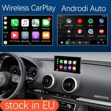 Interface automática apple carplay, sem fio, interface android para audi a3 2013-2018, com funções da câmera hdmi, mirrorlink airplay