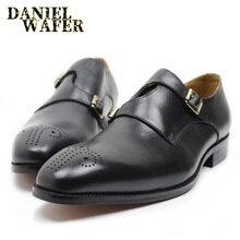 Элегантная мужская повседневная обувь; натуральная кожа; для деловой женщины; свадебные туфли в деловом стиле с острым носком; Туфли на ремешке с пряжкой; повседневная обувь; мужские кожаные мокасины