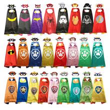 Superbohater peleryna z maską halloween kostiumy superbohater kostium Anime Party sprzyja superbohaterowi przebranie na karnawał tanie tanio BDAYPRT Płaszcz Oryginalny Unisex Dzieci Akcesoria Other C500