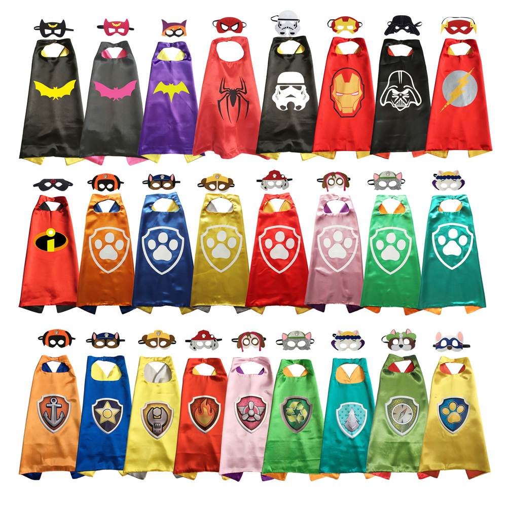 Superhero Cape with Mask Haloween Costumes Superhero Anime Costume Party Favors Superhero Cosplay Costume(China)