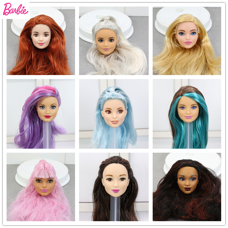 Original Doll Head Collection Limited Girls Accessories Colourful Fashion Hair Girl Dolls Gift DIY Toys For Children Bonecas