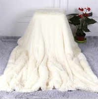 2020 Soft Fur Faux With Fluffy  Throw Blanket Bed Sofa Bedspread Long Shaggy Soft Warm Bedding Sheet Cozy Blankets