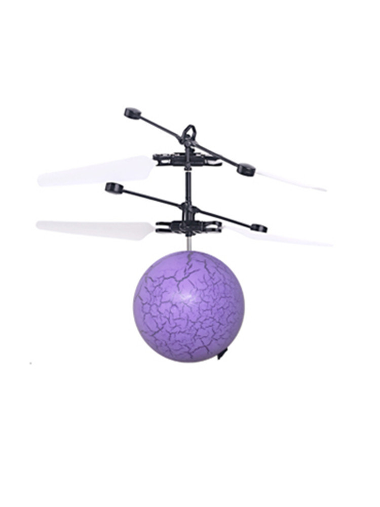 Sensing CHILDREN'S Toy Colorful Crystal Lie Wen Qiu Small Aircraft Drop-resistant Suspension Flying Ball Aircraft GIRL'S And BOY