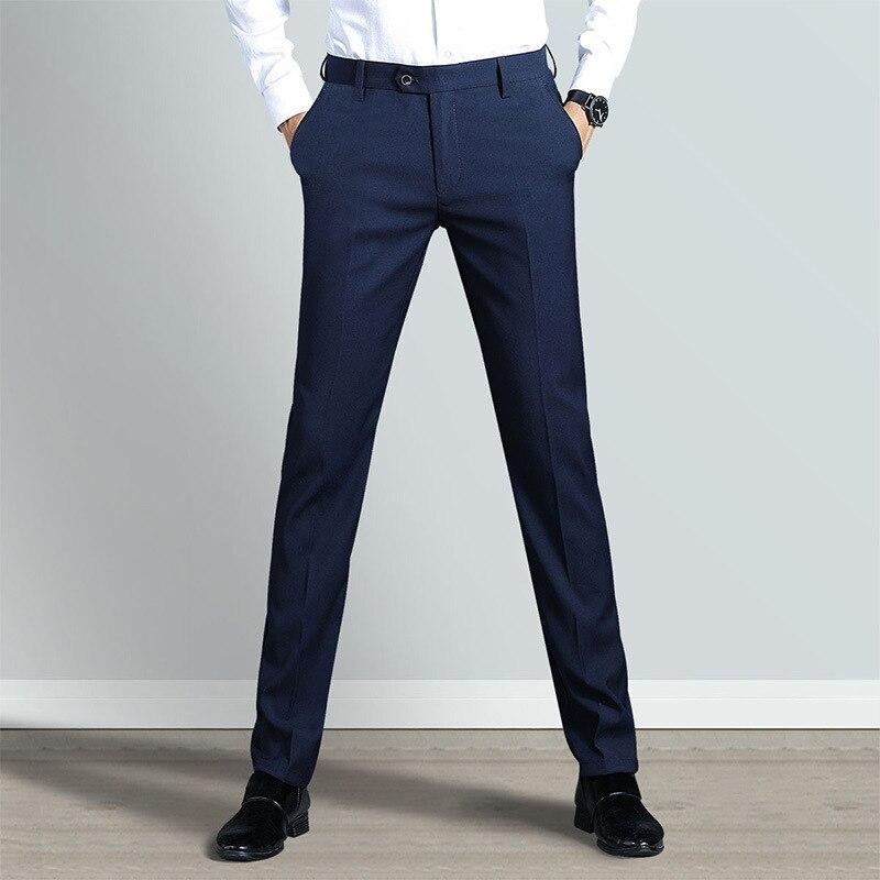 46.1 33,Men`s trousers new best men`s suit pants fashion casual pants business casual formal suit trousers wedding banquet mens trousers
