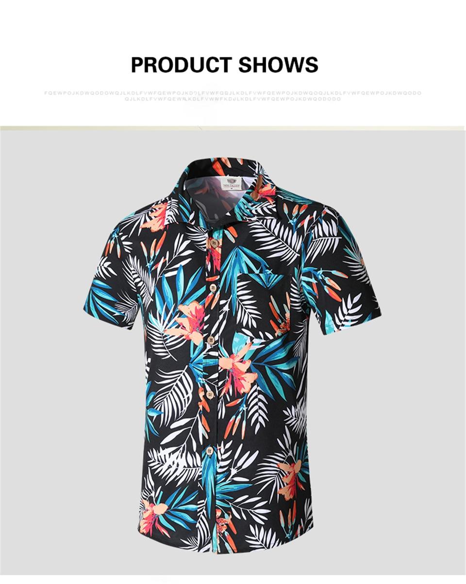2020 novo verão hawaii férias camisas masculinas
