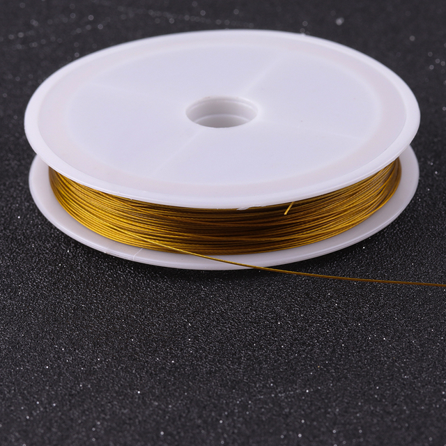 New Gold Color Stainless Steel Wire Beading Rope Cord Fishing Thread String For DIY Necklace Bracelets Jewelry Making Findings 5
