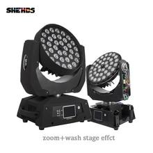 Светодиодный светильник с движущейся головкой и зумом, лампа 36x18 Вт RGBWA + UV 6 в 1 с сенсорным экраном Lyre 36x12 Вт DMX 18 каналов для диджея, диско вечевечерние НКИ, бара, быстрая доставка